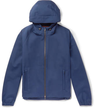 Loro Piana Rain-System Stretch-Shell Hooded Jacket - Men - Blue