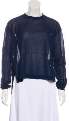 Acne Studios Semi-Sheer Crew Neck Sweater