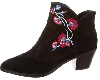 Rebecca MinkoffRebecca Minkoff Embroidered Suede Ankle Boots