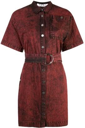 Proenza Schouler PSWL Crinkled Cotton Belted Dress