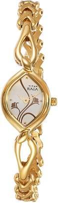 Titan Women's 2455YM01 Raga Jewelry Inspired Gold-Tone Watch