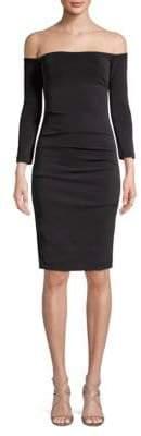 Nicole Miller Off-The-Shoulder Sheath Dress