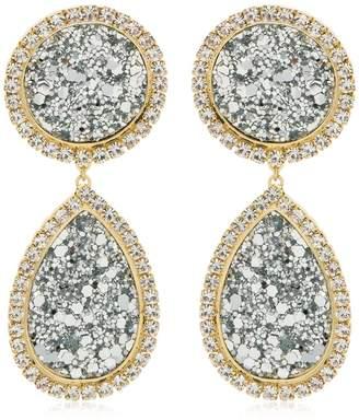 Shourouk Shimer Silver Clip-On Earrings
