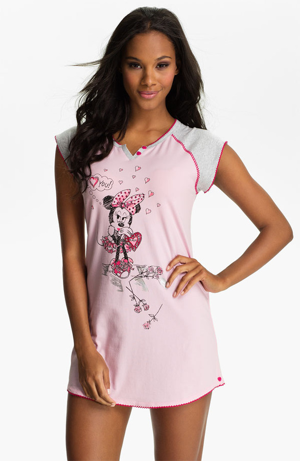 Betsey Johnson 'Minnie' Stretch Cotton Sleep Shirt