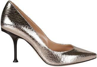 Sergio Rossi Glossy Effect Pointed Toe Pumps