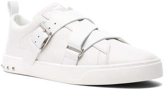Valentino Leather Strap Sneakers