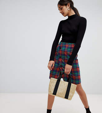 Bershka check skirt
