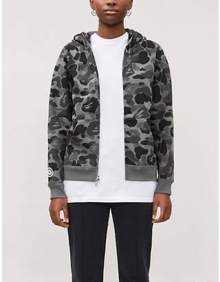BAPE Shark camouflage-print cotton-jersey hoody