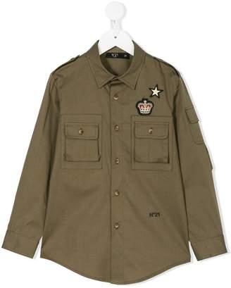 No.21 Kids badge patch military shirt