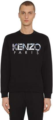 Kenzo Logo Embroidered Cotton Sweater