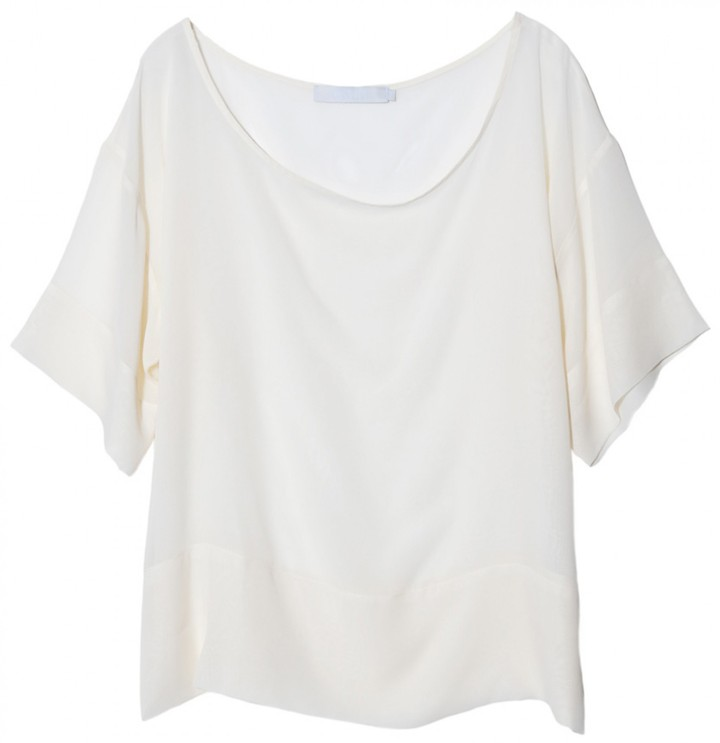 Kain Braylon Silk Blouse In Ivory