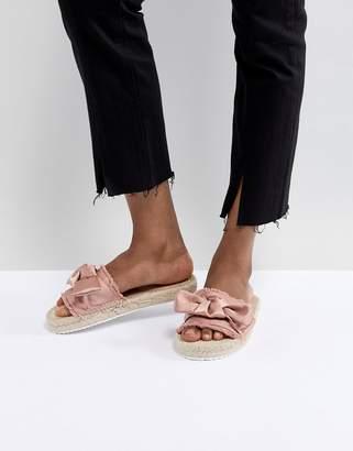 Miss Selfridge Bow Espadrille Sandals