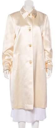 Michael Kors Long Button-Up Coat