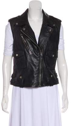 Diesel Sleeveless Leather Vest