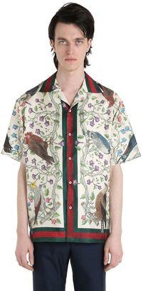 Printed Silk Twill Bowling Shirt $980 thestylecure.com