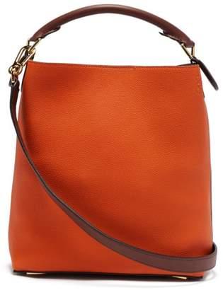 Loewe T Bucket Grained Leather Bag - Womens - Red Multi