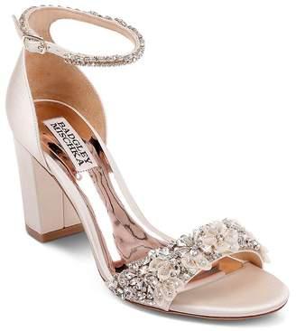 Badgley Mischka Women's Finesse Embellished Block Heel Sandals