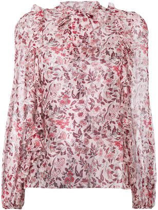 Giambattista Valli printed frill trim blouse