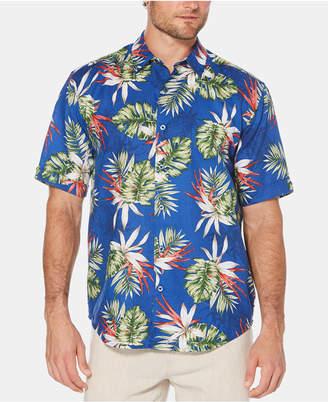 Cubavera Men Pineapple-Print Short-Sleeve Linen Shirt