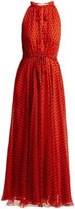 Diane von Furstenberg Baker polka-dot silk-crepe dress
