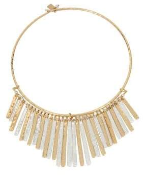 Robert Lee Morris Soho Two-Tone Frontal Necklace