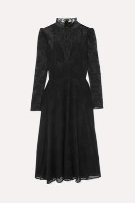 Philosophy di Lorenzo Serafini Cotton-blend Macramé Lace Dress - Black