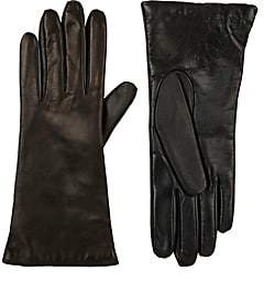 Barneys New York WOMEN'S TECH-SMART LEATHER GLOVES - BLACK SIZE 6.5