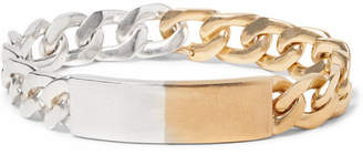 Maison Margiela Sterling Silver And Gold-Tone Id Bracelet