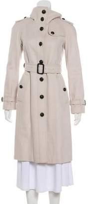 Burberry Virgin Wool Knee-Length Coat