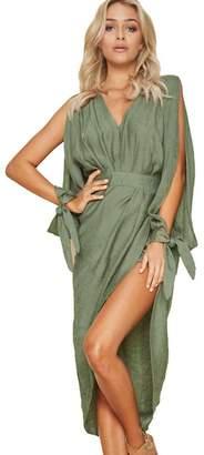 E-Scenery Women Dress And Skirt E-Scenery Women's Summer Boho Long Maxi Dress Evening Party Beach Dresses Sundress