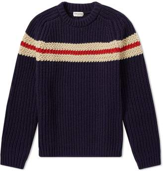 Saint Laurent Chunky Chest Stripe Crew Knit