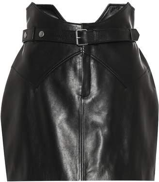 Saint Laurent Leather miniskirt