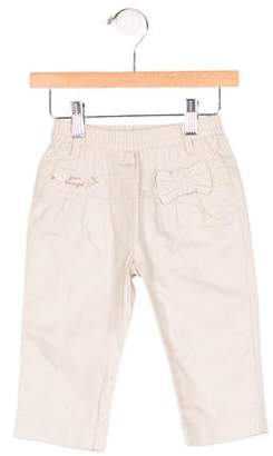 Jean Bourget Girls' Bow-Accented Elasticized Pants w/ Tags