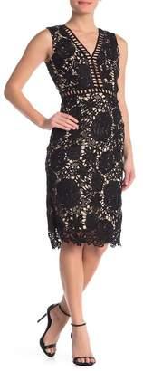 Love by Design Allover Lace & Lattice Midi Dress