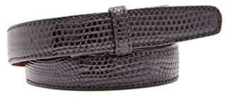 "Trafalgar Java Lizard 1"" Belt Strap Black Size 34"