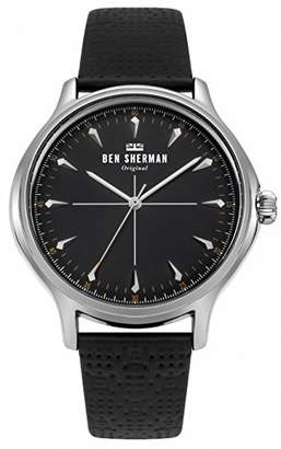 Ben Sherman Men's 'Kensington Heritage' Quartz Silver-Tone and Leather Casual Watch