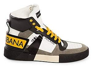 Dolce & Gabbana Dolce& Gabbana Dolce& Gabbana Men's Milano High-Top Leather& Suede Sneakers
