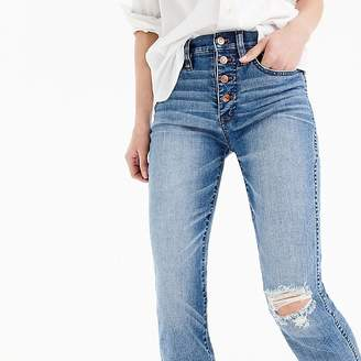 J.Crew Tall vintage straight jean in reed wash with button fly