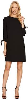 CeCe 3/4 Tie Sleeve Moss Crepe Shift Dress Women's Dress
