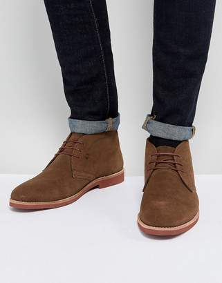 Red Tape Chukka Boots Brown Suede