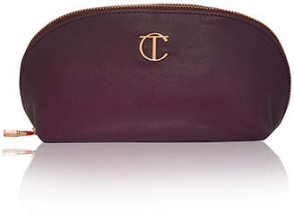 Charlotte Tilbury LEATHER MAKEUP BAG NIGHT CRIMSON