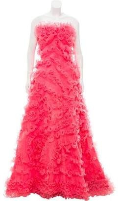Jovani Ruffle Gown Dress w/ Tags