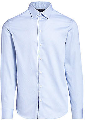 Emporio Armani Men's Mini Diamond Cotton Shirt