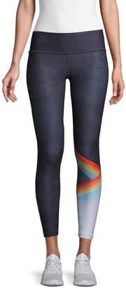 Wear It To Heart Printed Ankle Leggings