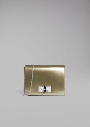 Giorgio Armani Metallised Patent Leather Mini Crossbody Bag