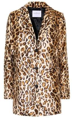 Velvet Celine faux fur blazer