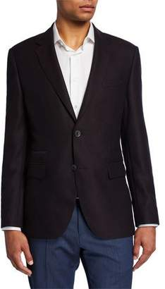 BOSS Men's Regular-Fit Two-Button Jacket with Elbow Patches
