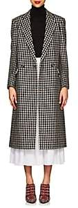 Derek Lam Women's Houndstooth Tweedy Wool-Blend Long Coat - Taupe Multi