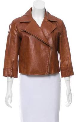 Robert Rodriguez Leather Notch-Lapel Jacket