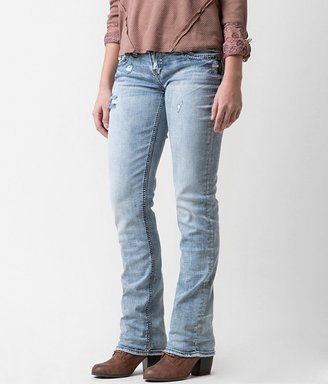 Silver Aiko Straight Stretch Jean $94 thestylecure.com